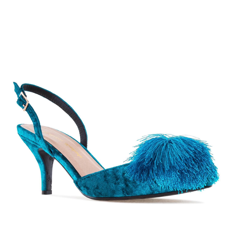 Salón Velvet Azul Pompón