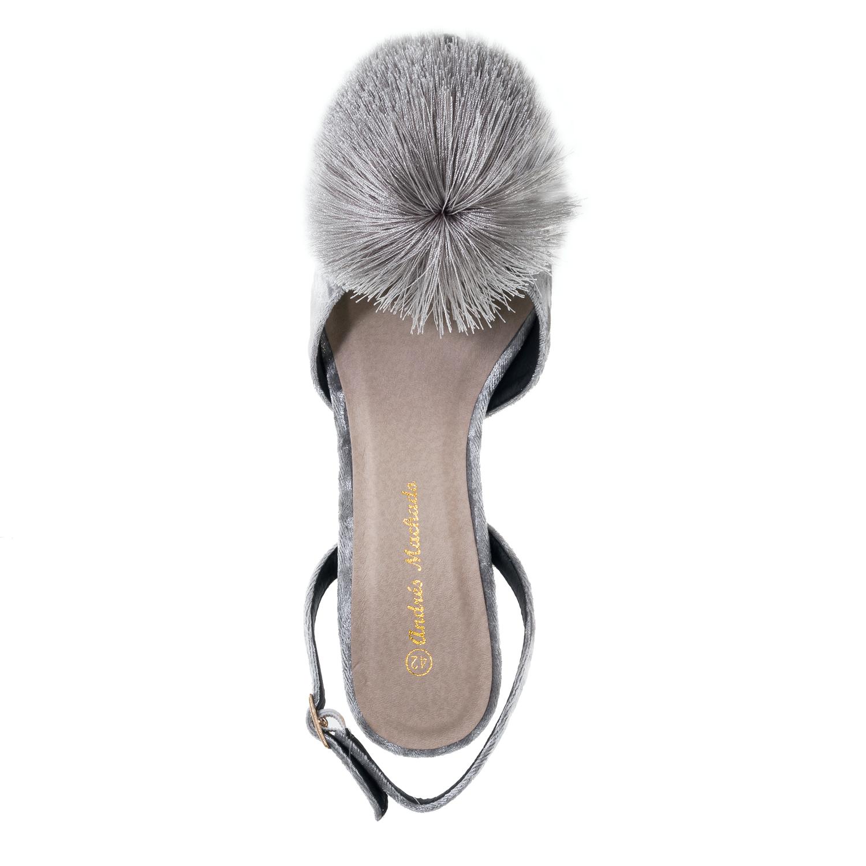 Antilop cipele-baletanke sa biserima, sive