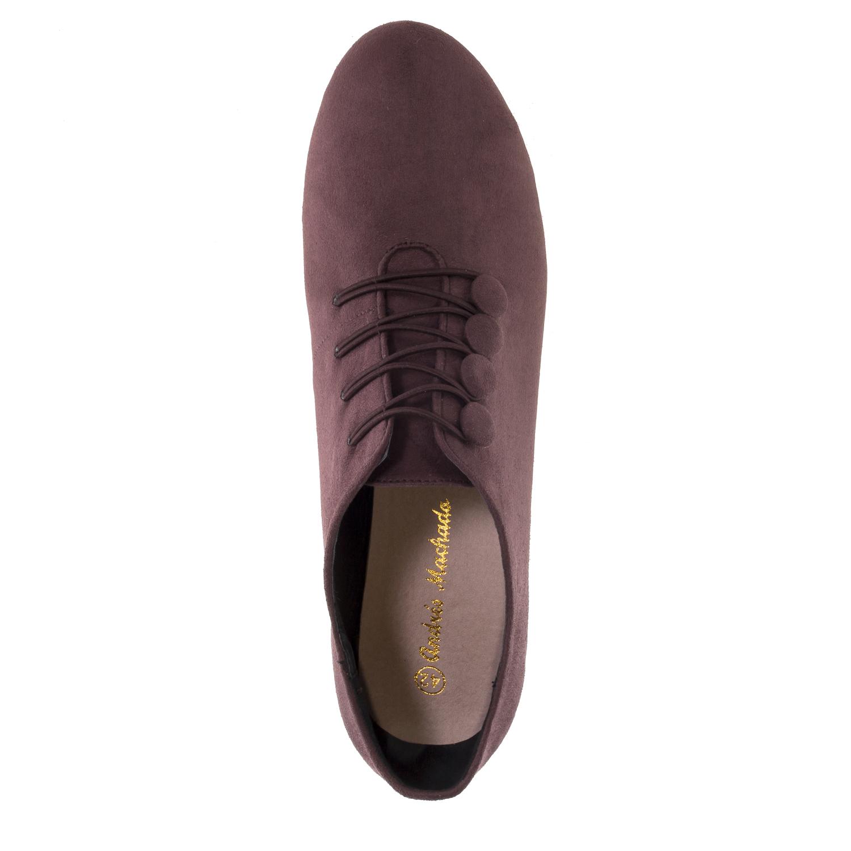 Zapato abotinado Ante Burdeos