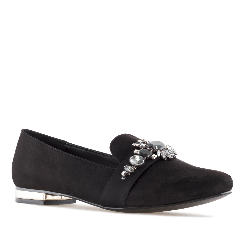 Antilop cipele-baletanke sa kamenčićima, crne