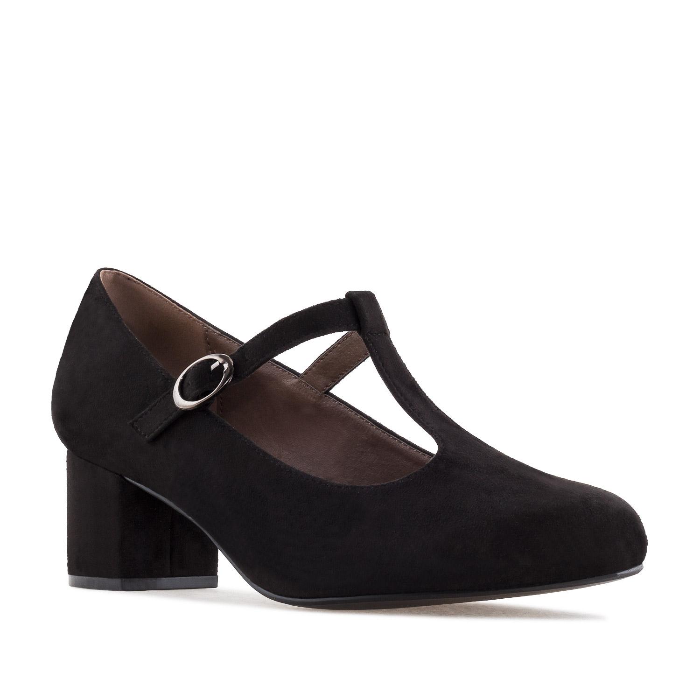 Antilop Mary Jane salonke za šira stopala, crne