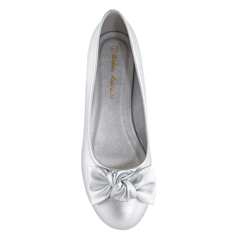 Baletanke sa mašnom, srebrne