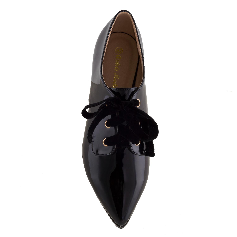 Zapato Charol Negro Punta