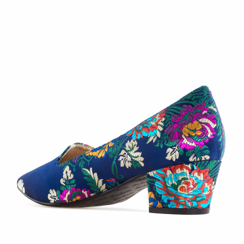 Salón tejido Flores Azul