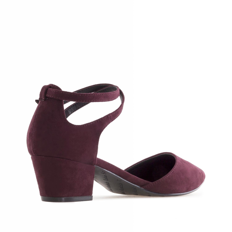 Zapato Punta Ante Burdeos