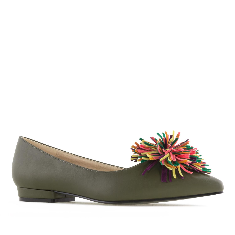 Oliivin vihreät Ballerinat