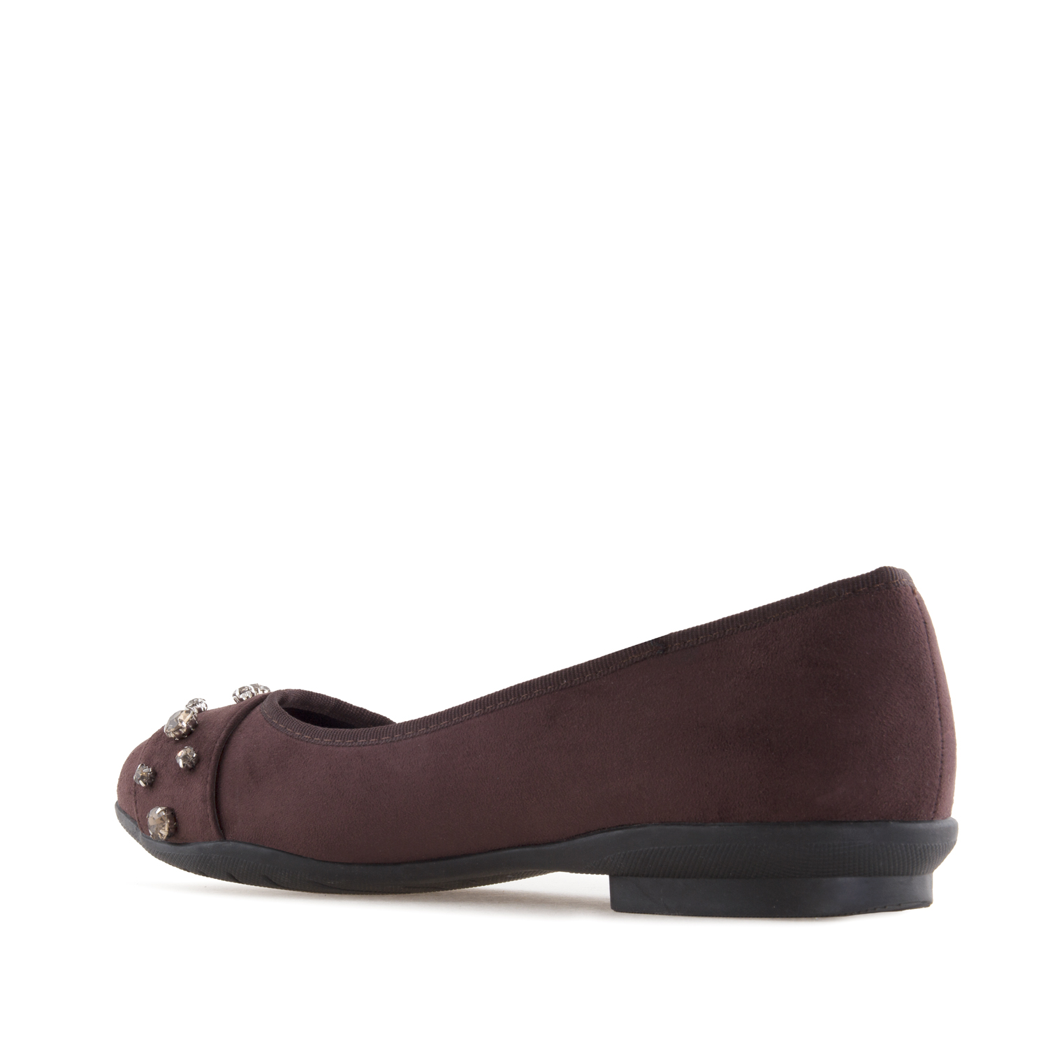 Ballerines Daim Bordeaux