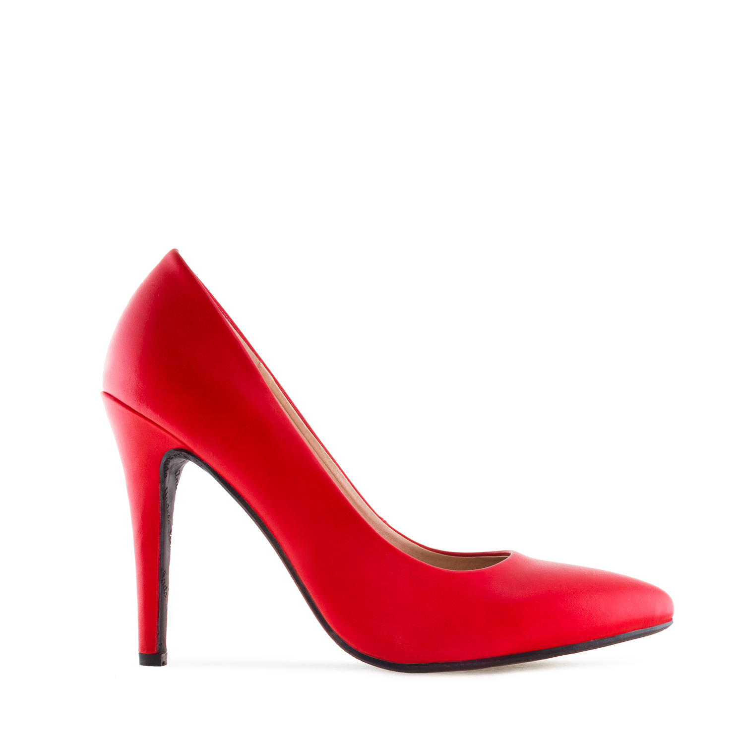 Stilettos in Red faux Leather