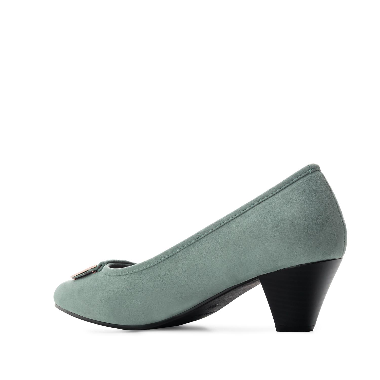 Loafer mit extra breitem Fußbett aus türkisem Velourleder