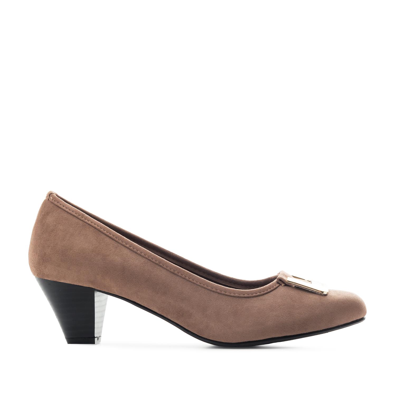 Loafer mit extra breitem Fußbett aus braunem Velourleder