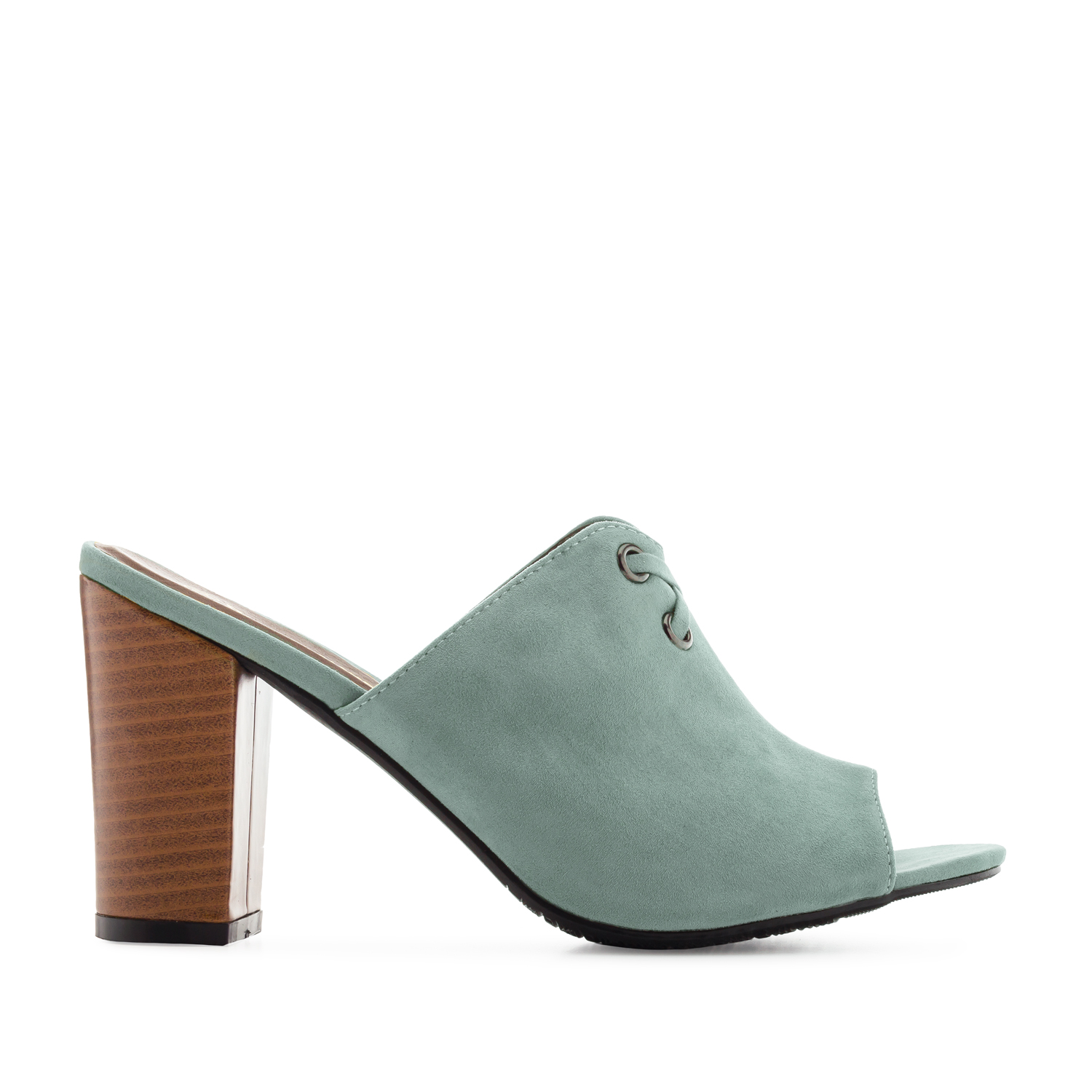 Mules in Turquoise Suede