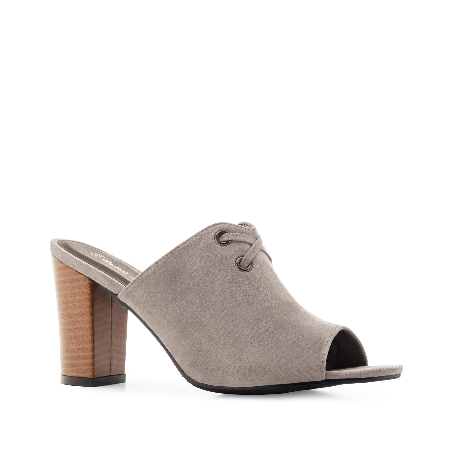 Mules in Grey Suede