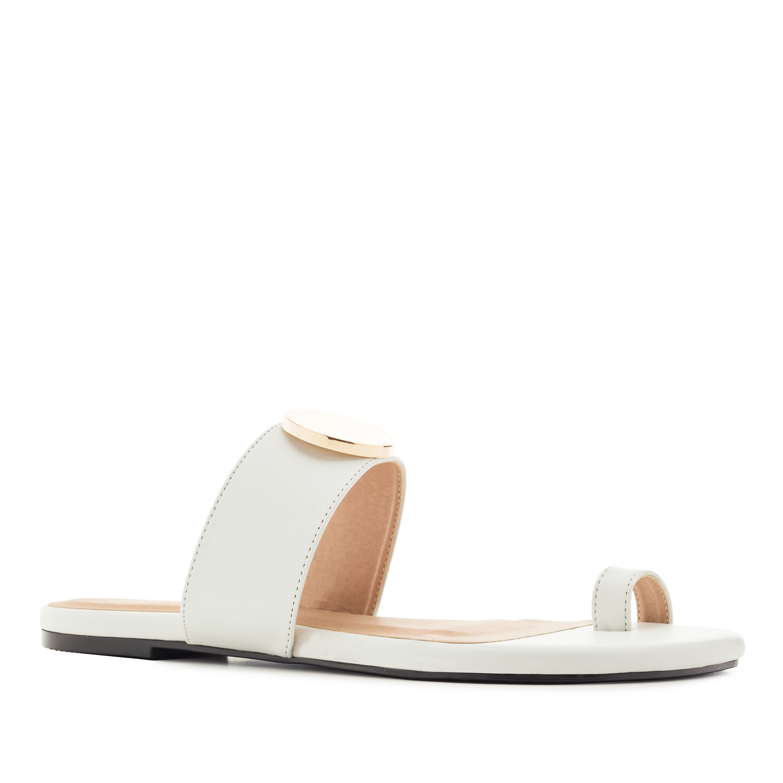Elegantní pantofle žabky. Bílé.