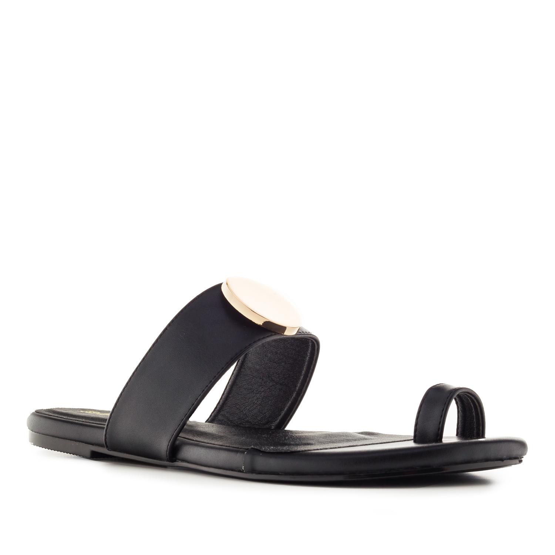 Elegantní pantofle žabky. Černé.