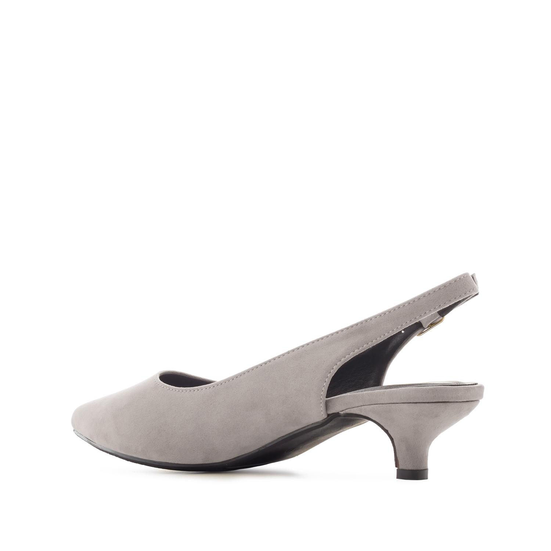 Antilop sandale sa niskom štiklom, sive