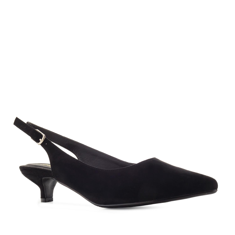 Antilop sandale sa niskom štiklom, crne