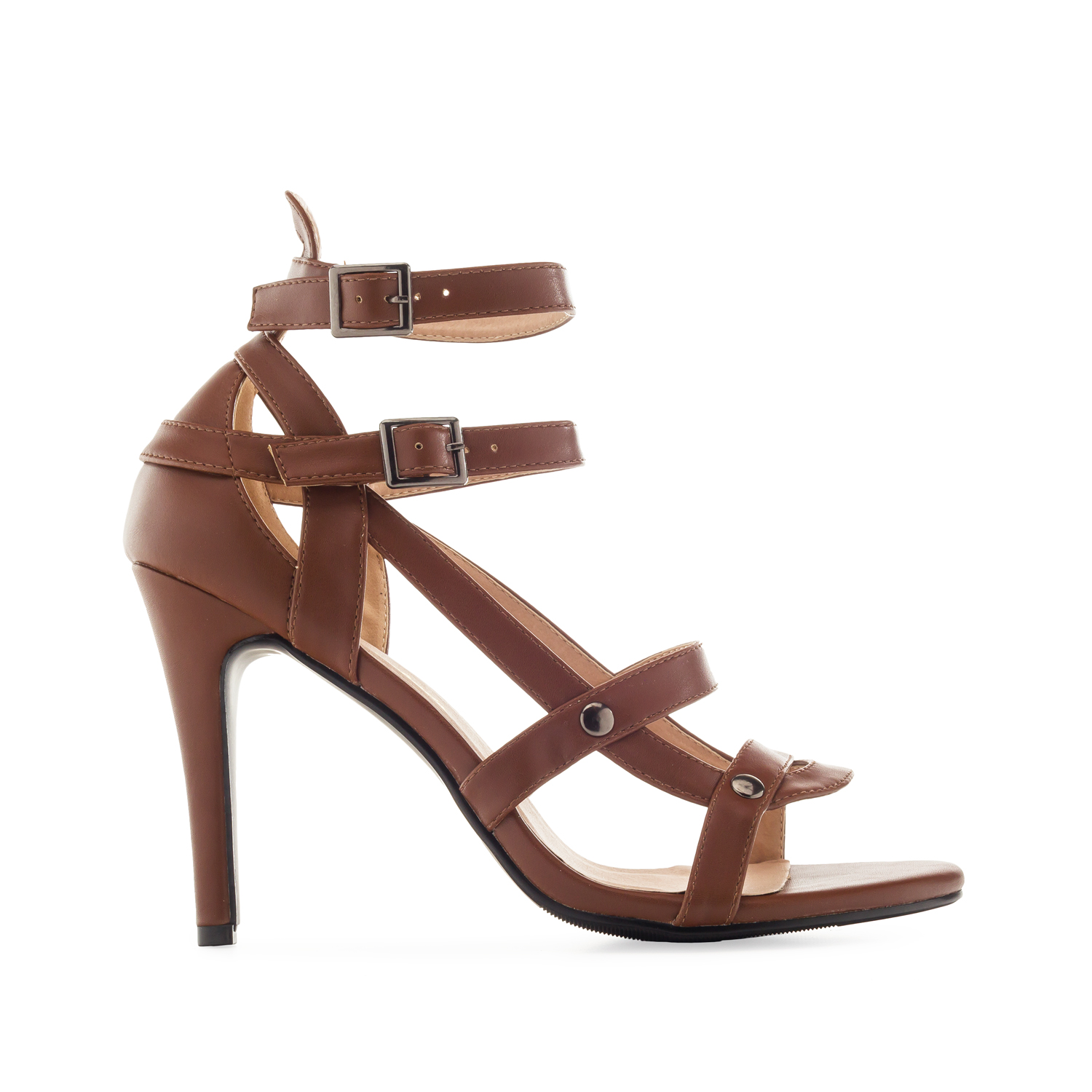 Sandalias multi tiras Soft Marron