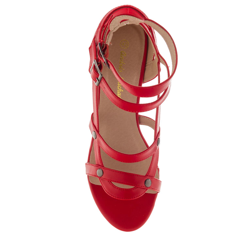 Sandalias multi tiras Soft Rojo