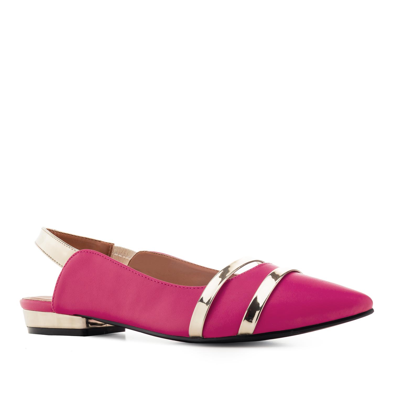 Špicaste baletanke sa otvorenom petom, pink