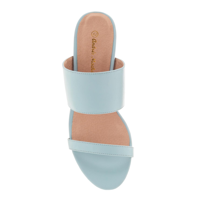 Páskové modré sandále