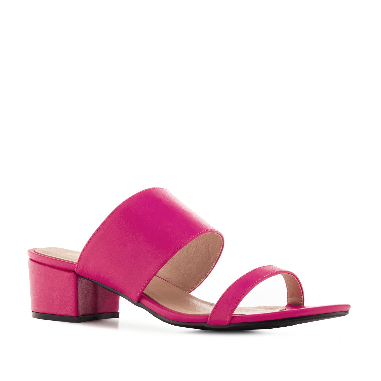 Páskové sandále, růžové fuchsie
