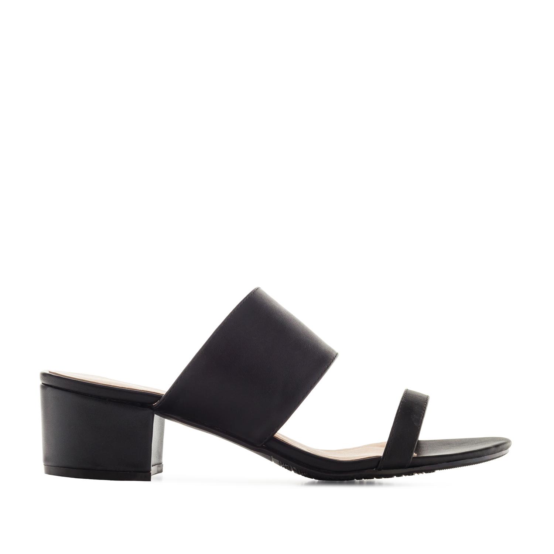 Papuče sa nižom štiklom, crne