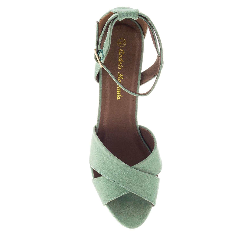 Antilop sandale sa ukrštenim trakama, zelene