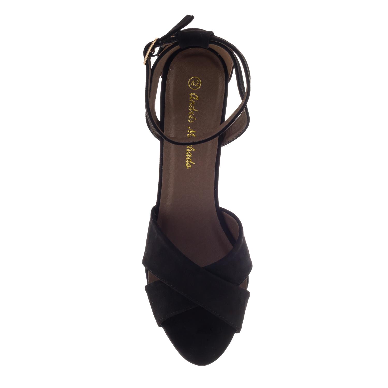 Antilop sandale sa ukrštenim trakama, crne