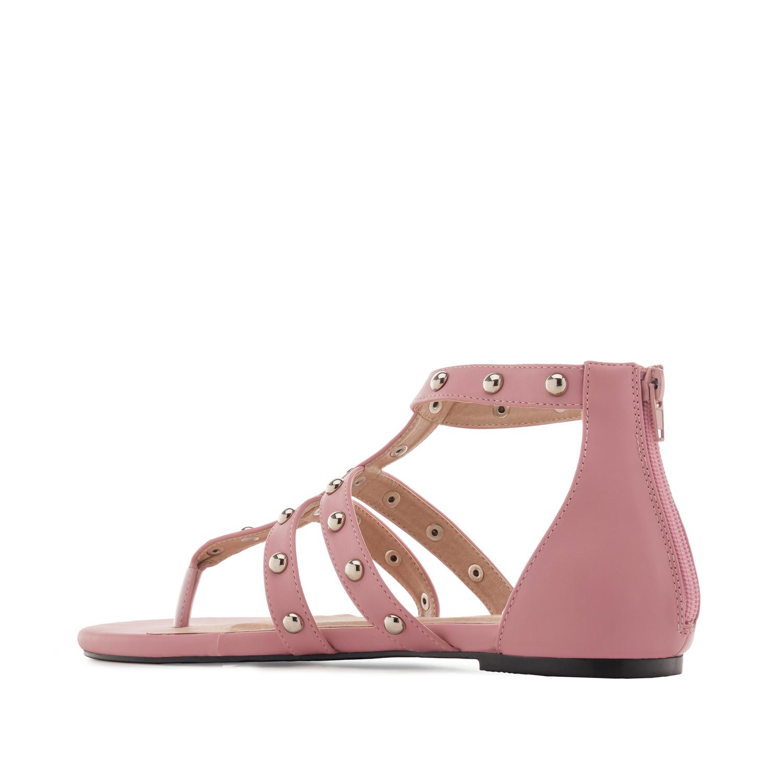 Páskové sandále Romanas s cvočky. Růžové.