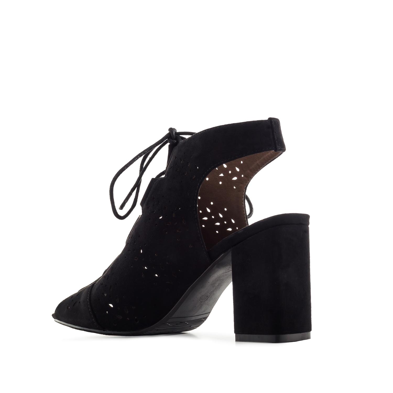 Antilop rupičaste sandale, crne