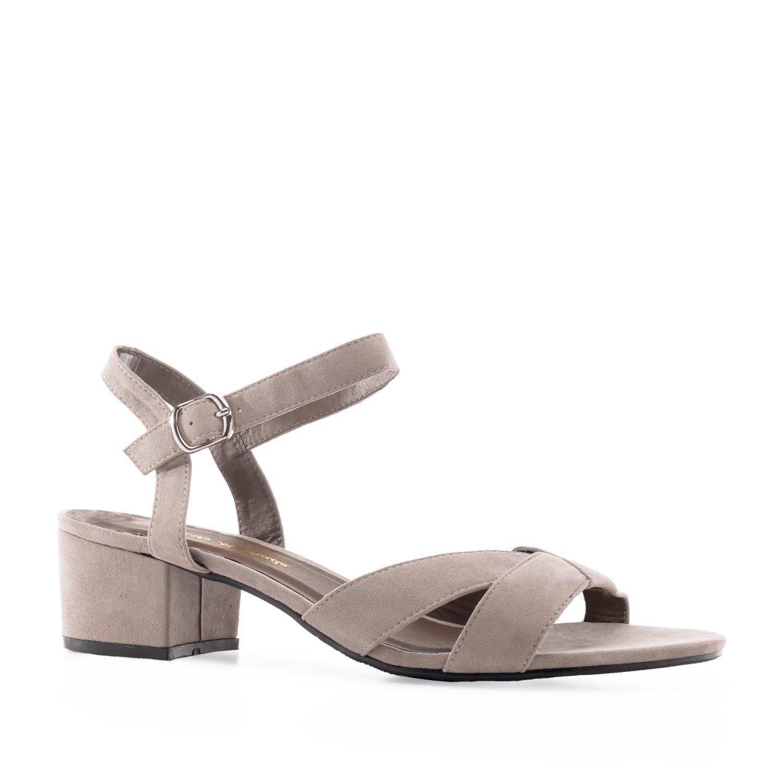 Antilop sandale sa širokom štiklom, sive