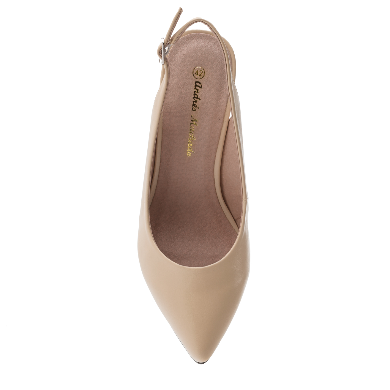 Slingback-Pumps in Soft Beige