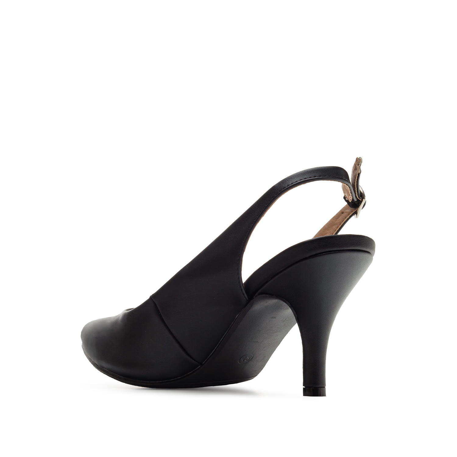 Slingback-Pumps in Soft Schwarz