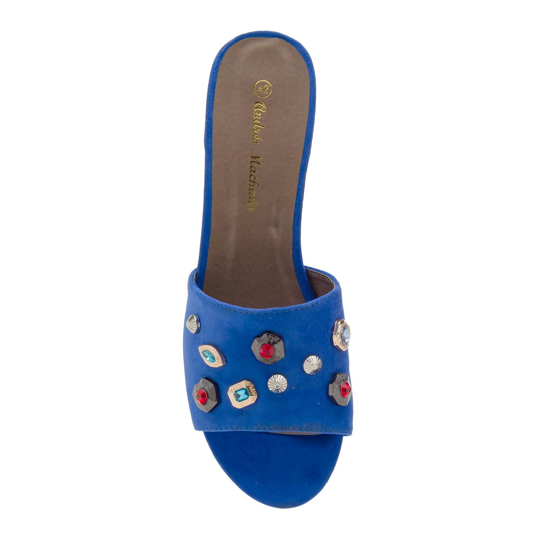 Mule Piedras Ante Azul