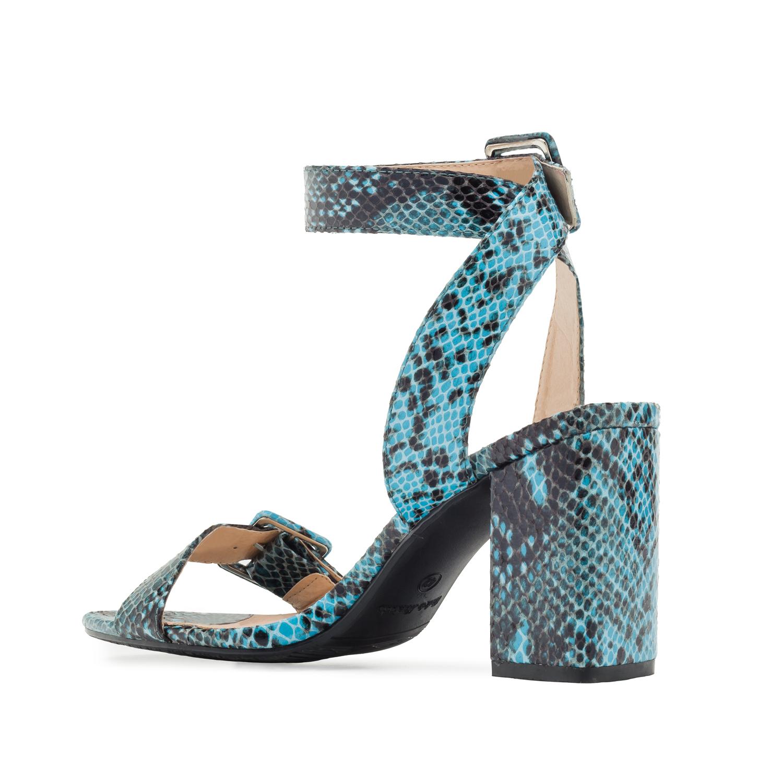 Sandalia Hebilla Serpiente Azul