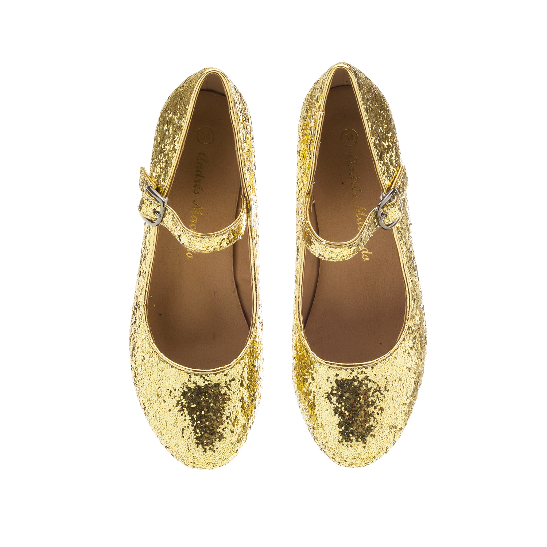 Kuldsed säravad kingad tüdrukutele ,lai konts.