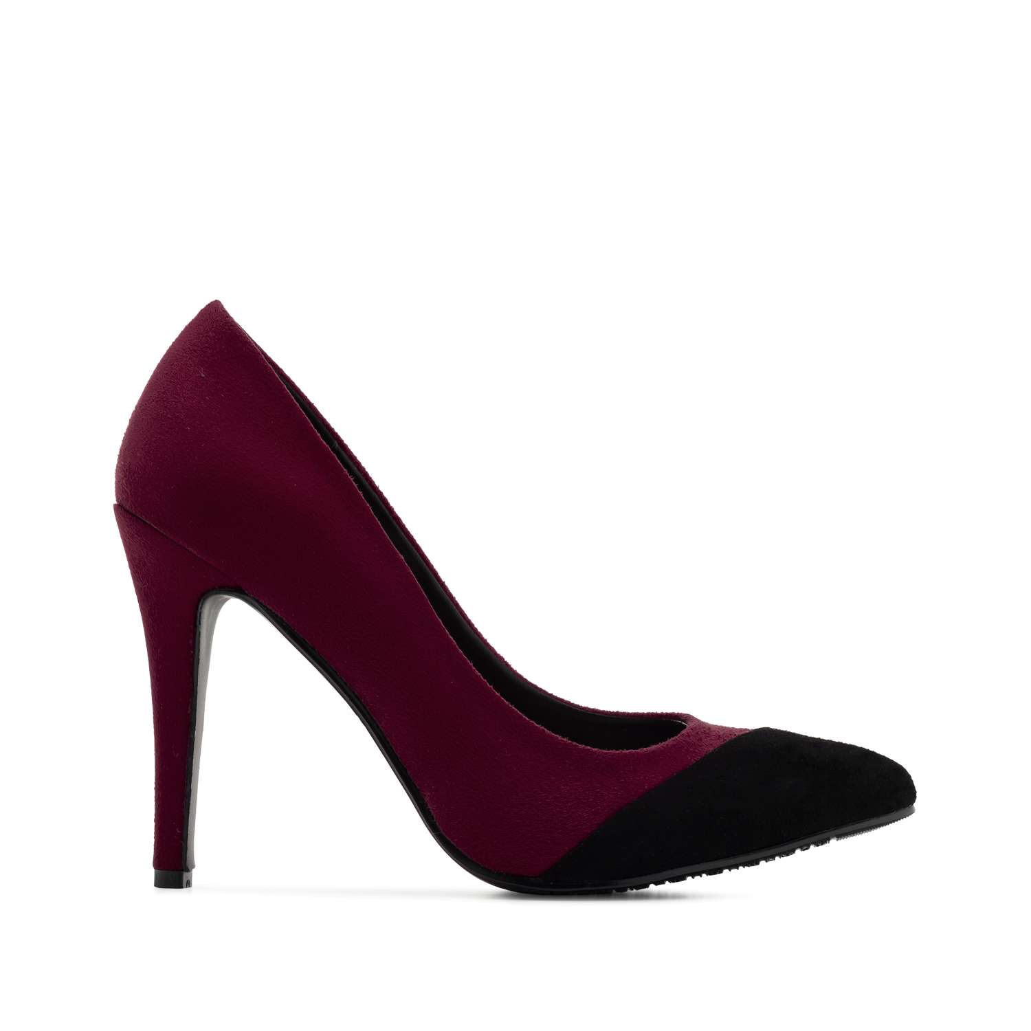 High-heels in Burgundy Suede