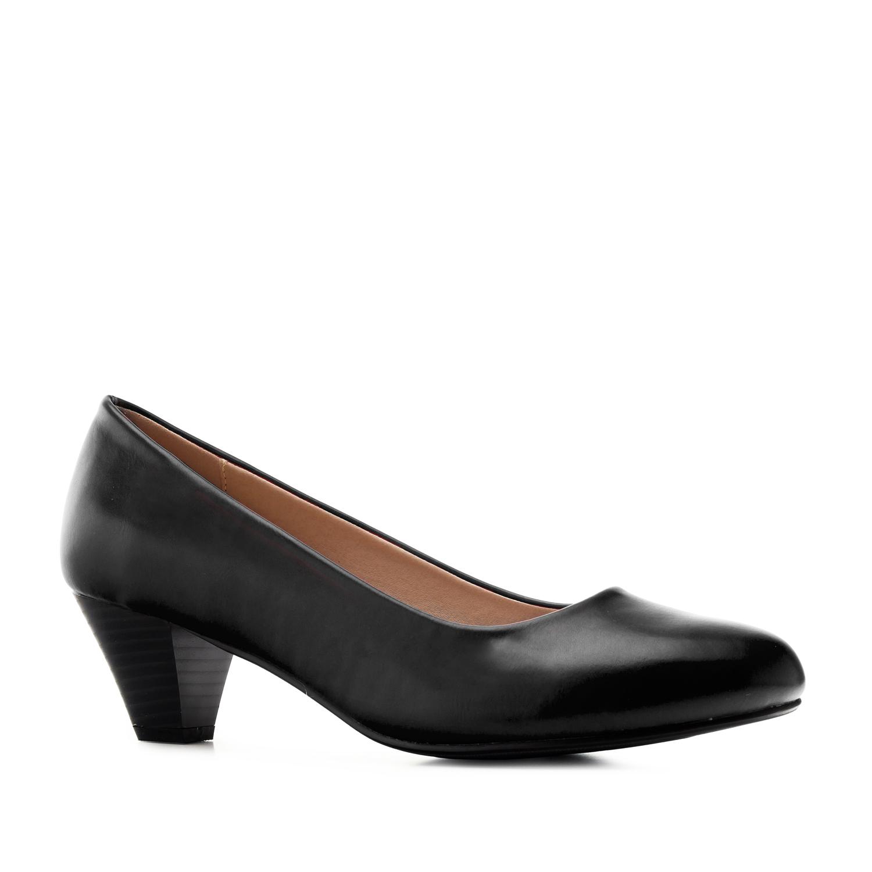 Černé lodičky pro široká chodidla