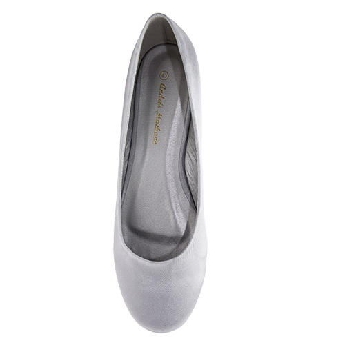 Baletanke, saten srebrne