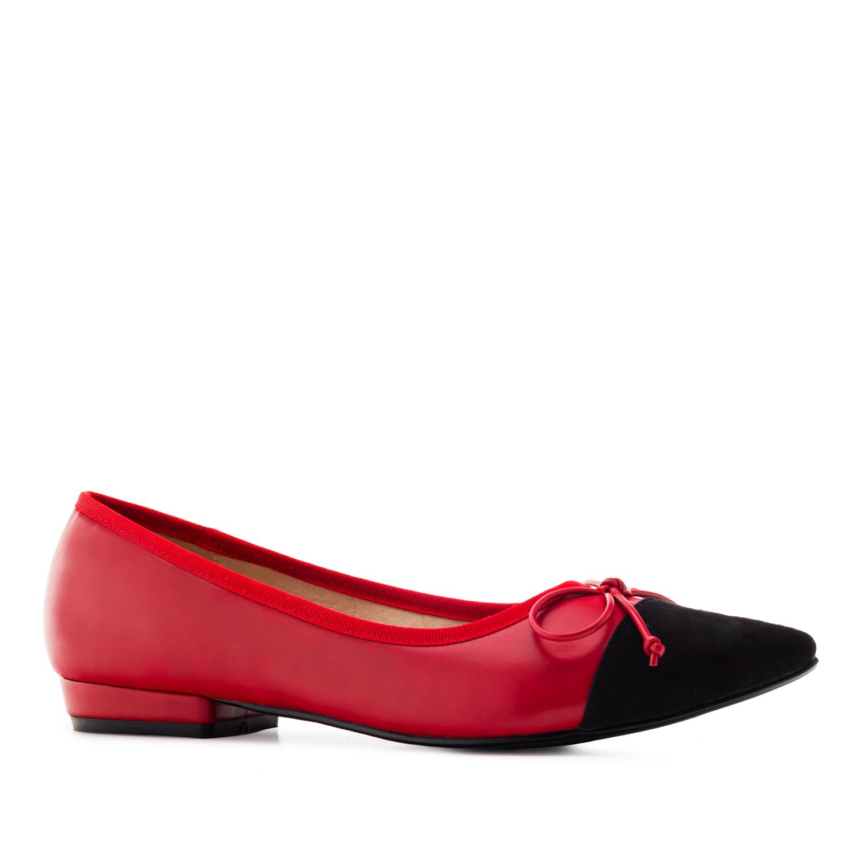 Puna/musta rusetti ballerina