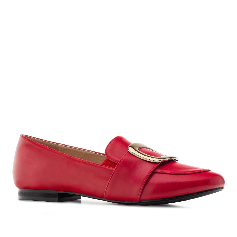 Punaiset solkikoriste loaferit