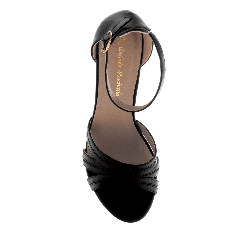 Letní sandále na vysokém podpatku. Černé.