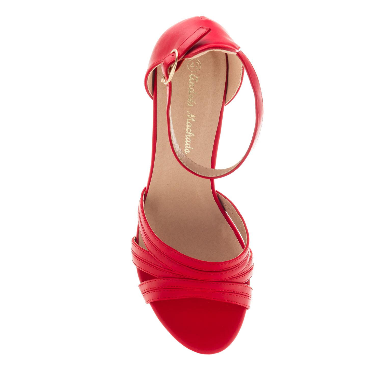 Sandalias Tacón en Soft Rojo