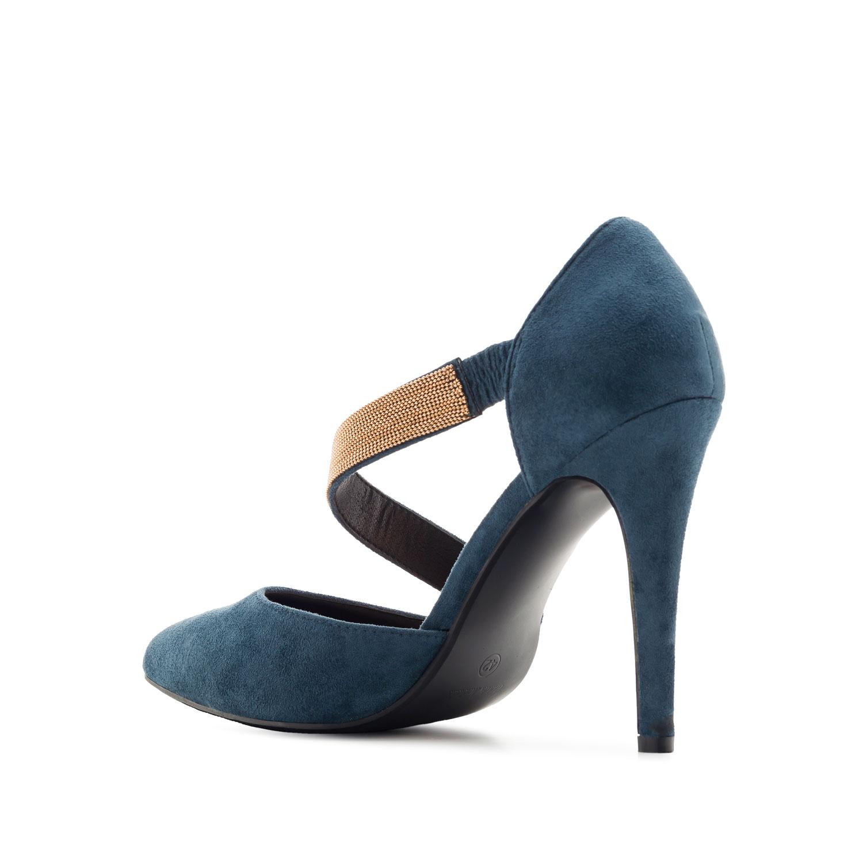 Zapato en Ante Azul