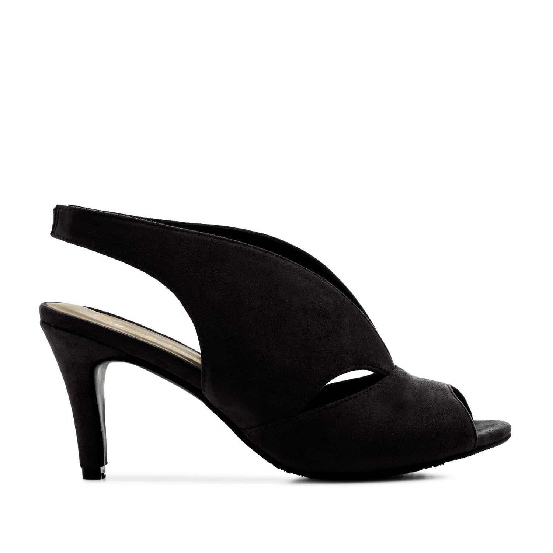 Semišová jarní dámská obuv. Černá.