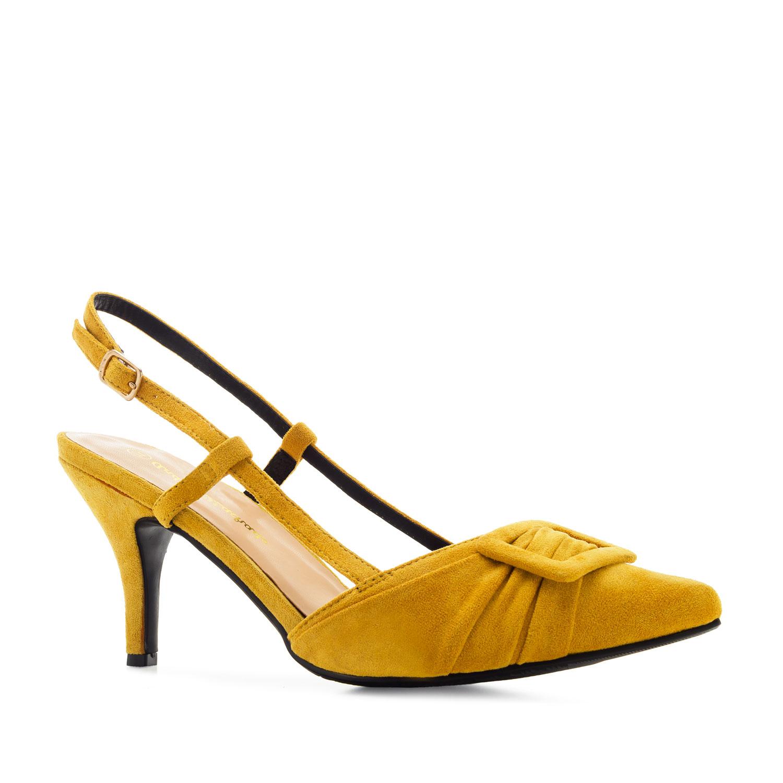 Zapato destalonado Ante Mostaza