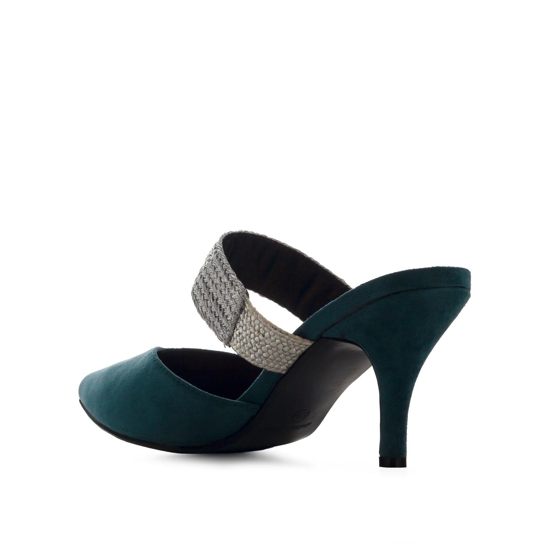 Elegantní pantofle na podpatku. Modré.