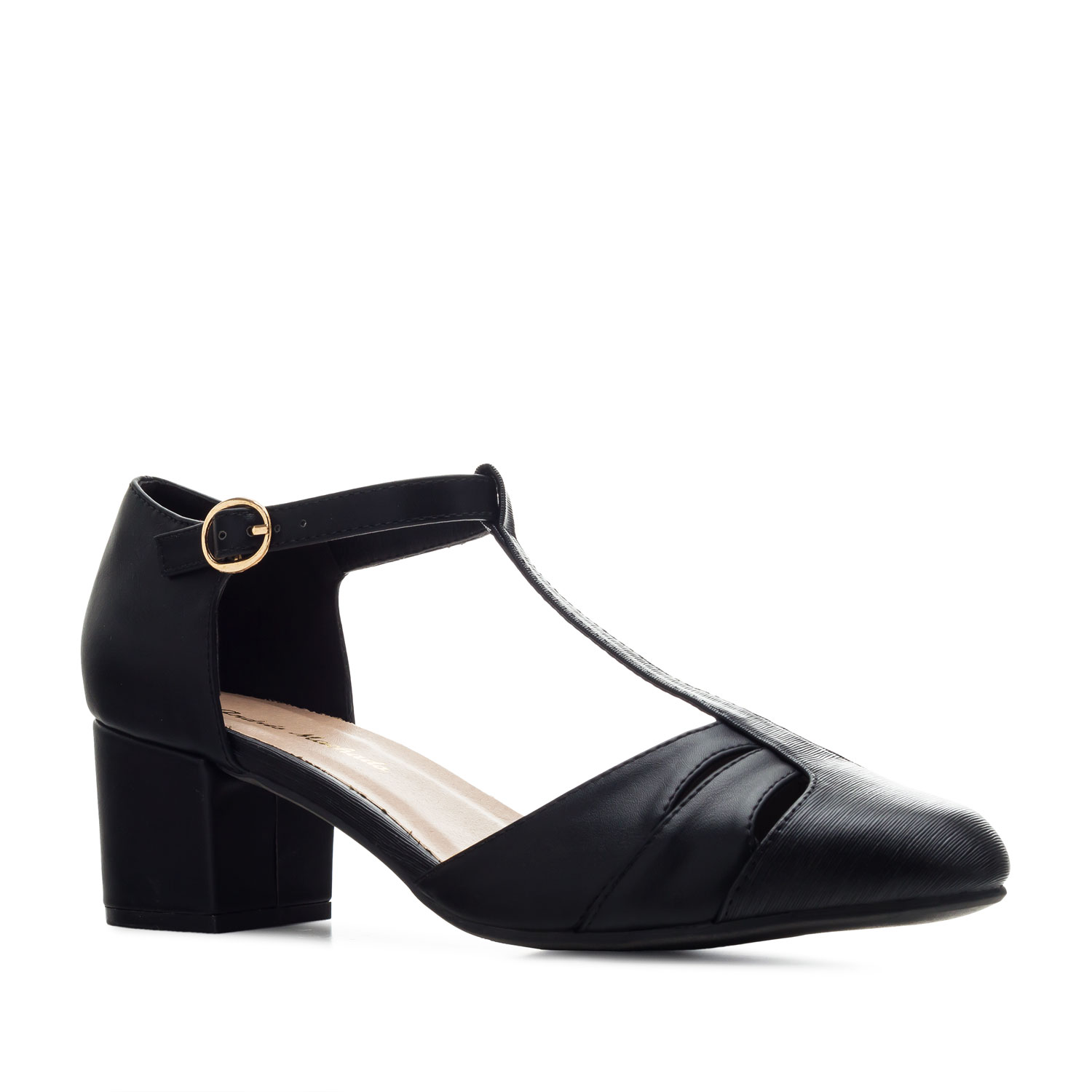 Charleston Shoes in Black faux Leather