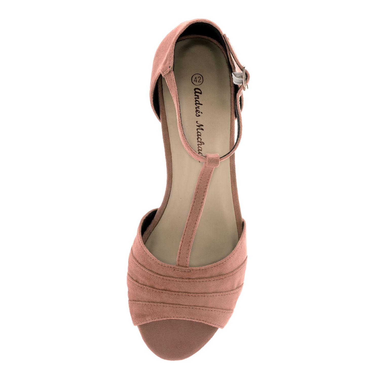Nude kapillinen mokkajäljitelmä T-hihna sandaali