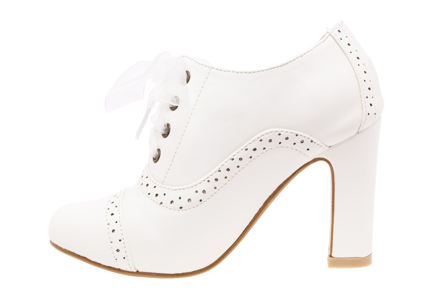 Zapatos en Soft Blanco Estilo Oxford.